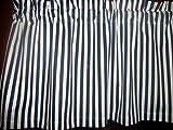 Navy Blue White Stripes nautical waverly fabric window topper curtain Valance