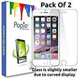 POPIO Tempered Glass Screen Protector For iPhone 6 / iPhone 6S / iPhone 7 / iPhone 8 (Pack Of 2)