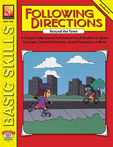 Following Directions Around The Town | Reproducible Activity Book