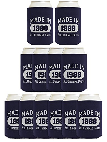 Pepsi Candle (30th Birthday Gift Coolie Made 1988 Can Coolers Coolies 12 Pack Navy)