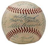 1953 Yankees Team Signed Baseball Mickey Mantle