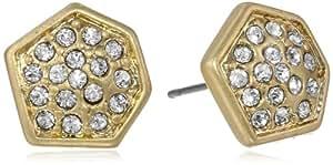 "Kenneth Cole New York ""Springtime Rose"" Pave Geometric Stud Earrings"