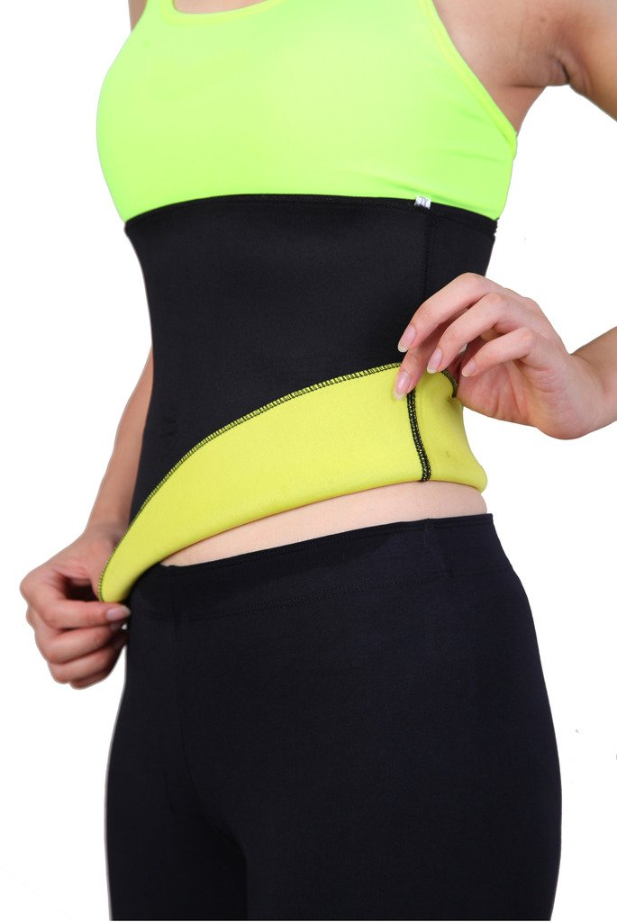 DODOING Hot Thermo Sweat Shapers Slimming Belt Sauna Waist Cincher Girdle for Weight Loss Women & Men