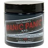permament Manic Panic Semi-Permament Haircolor Green Envy 4 Ounce Jar (118ml)