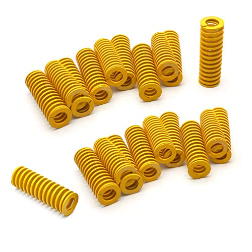 DGQ 20 Pack 8mm OD 20mm Long Light Load Compression Mould Die Spring Yellow ()