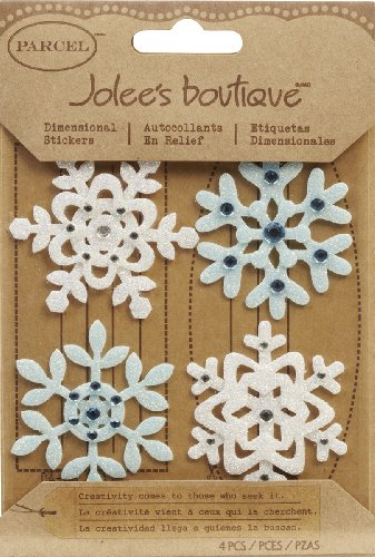 Jolee's Boutique Parcel Fun Felt Snowflakes Dimensional Stickers (Boutique Jolees Snowflakes)