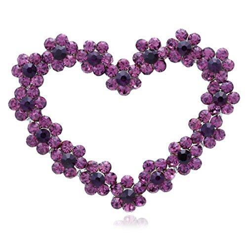 Designer Fashion Jewelry - Valentine's Day Purple Heart Pin Brooch Designer Fashion Jewelry Charm