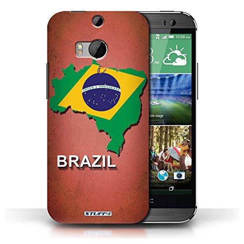 Kobalt® Imprimé Etui / Coque pour HTC One/1 M8 / Brésil conception / Série Drapeau Pays