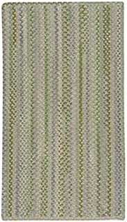 "product image for Capel Melange Green 0' 24"" x 0' 36"" Vertical Stripe Rectangle Braided Rug"