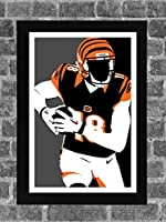 Cincinnati Bengals A.J. Green Portrait Sports Print Art 11x17