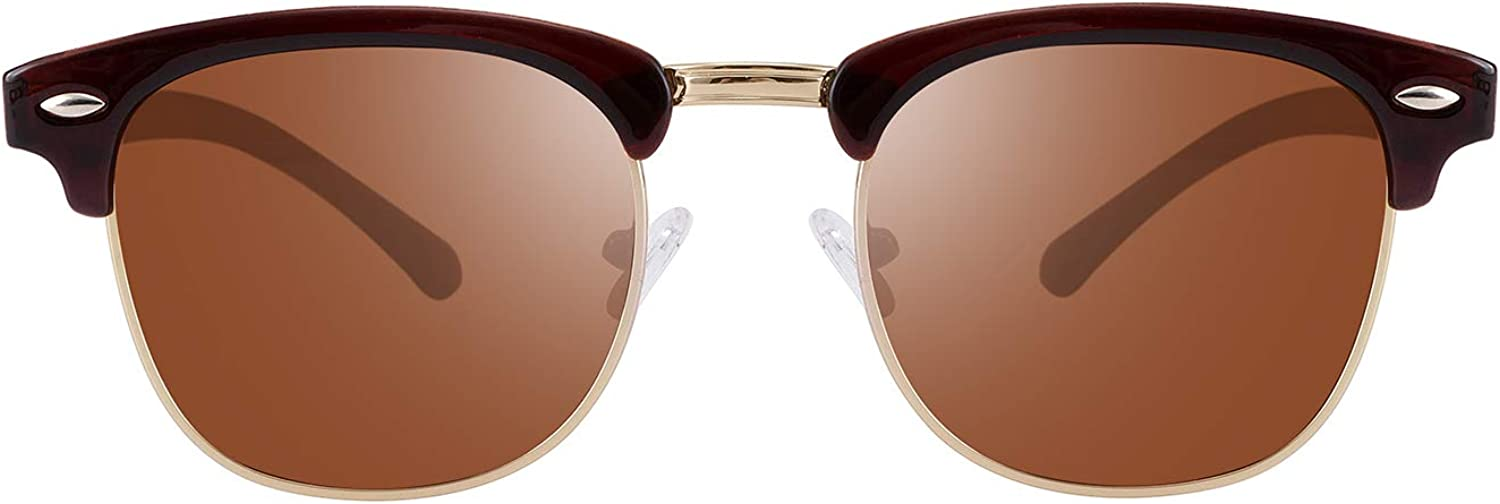 Tacloft Polarized Sunglasses Semi Rimless Frame Brand Designer Classic Women Men Retro Sun Glasses TL6005