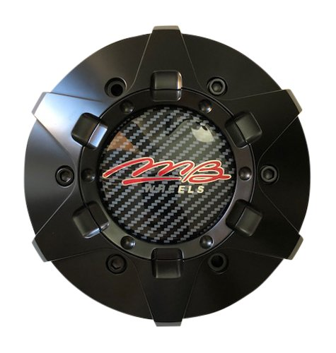 MB Wheels C-358-4 80478 Matte Black Center Cap Fits 6x139.7 6x135 (4 Wheel Auto Center)