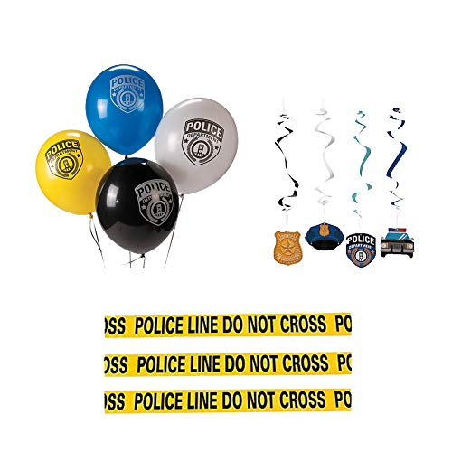 Police Party Supplies, 37 Piece Cop Party Decorations Kit -