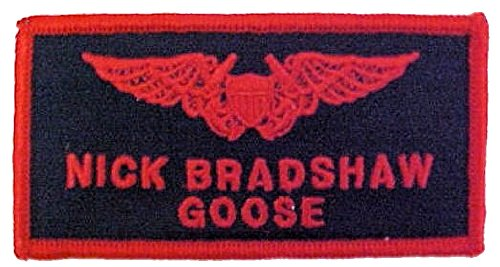 Top Gun Flight Badge for Halloween Costumes (GOOSE)