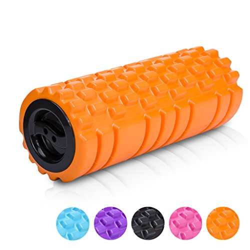 Longans Foam Rollers & Trigger Point Roll For Deep Tissue Muscle Massage & Myofascial Release, Aching Back and Leg 13'x5' - for Yoga (Yellow)