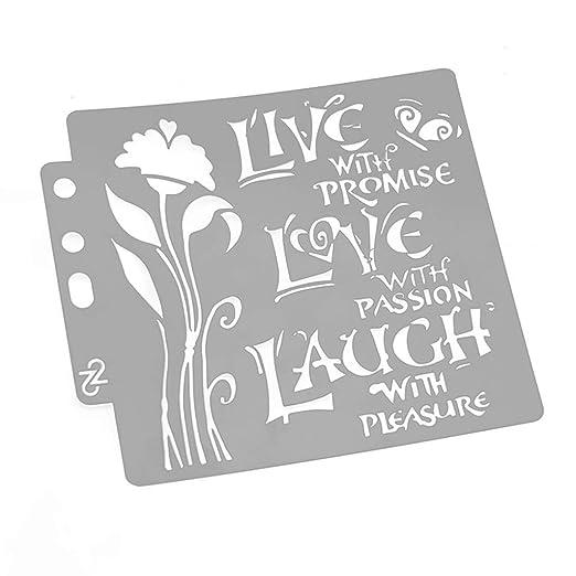 Love Stencils - Plantilla para pintar álbumes de recortes en ...