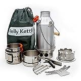 Ghillie Kettle Best Deals - Kelly Kettle Ultimate Aluminum Small Trekker Camp Stove Kit. Boil Water, Cook Fast, Survive.