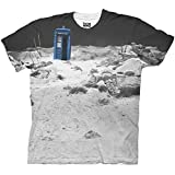 Doctor Who TARDIS Prehistoric Earth Adult White Sublimation T-Shirt (Adult Small)