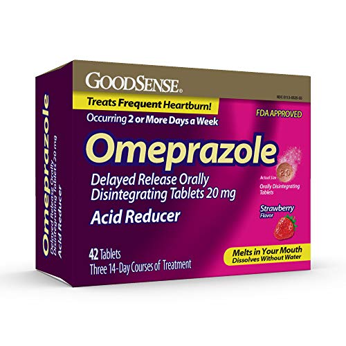 GoodSense Omeprazole Delayed Release Orally Disintegratring Tablets 20 Mg, Strawberry Flavor, 42 Count