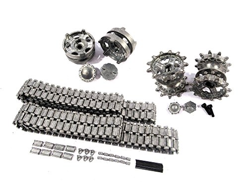 Mato Metal Tracks Sets Sprockets With Metal Caps Idler Wheels With Bearings For Heng Long 3938 RUSSIAN T 90 1 16 Tank (Tank T 90)