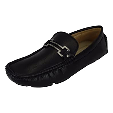 Amazon.com | Aldo Rossini Mens Leo-4 Vegan Nubuck Leather Embellished with Bit Ornament Slip-On Loafers Moccasins Driving Shoes (13 D(M) US, ...