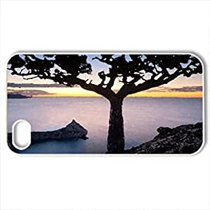 Sunset - Case Cover for iPhone 4 and 4s (Sky Series, Watercolor style, White)