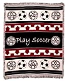 Play Soccer Woven Throw Blanket 2 1/2 Layer ECO2cotton by Simply Home