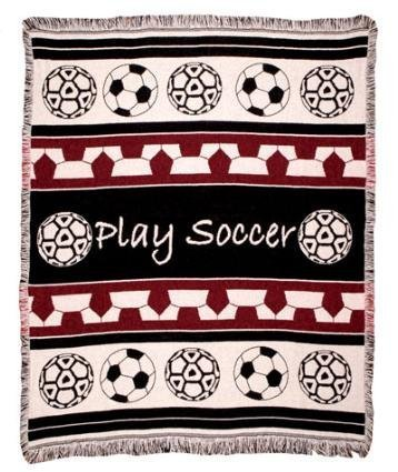 Play Soccer Woven Throw Blanket 2 1/2 Layer ECO2cotton by Simply Home by Simply Home