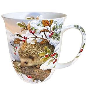 ambiente christmas mug hedgehog in the snow mug 0 4l fine. Black Bedroom Furniture Sets. Home Design Ideas