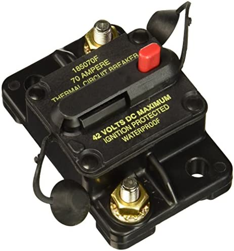 Bussmann CB185-70 Waterproof High Amp Flush Mount Type III 3 Circuit Breaker 70 Amp , 1 Pack