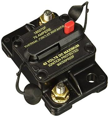 Bussmann CB185-70 70 Type Iii Flush Mount Switchable/Manual High Amp Circuit Breaker, 30Vdc, One Per Box (1-Pack)