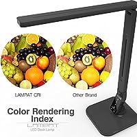 Dimmable LED Table Lamp Black 5-Level 4 Lighting Modes Lampat LED Desk Lamp