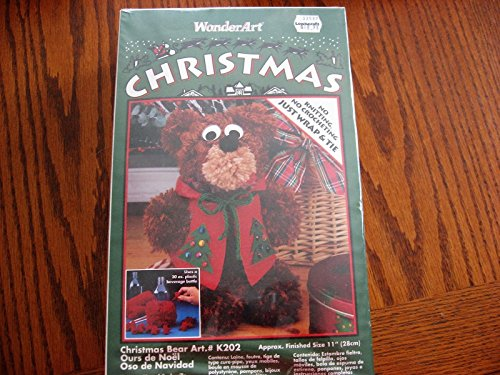 Wonder Art Christmas Bear Kit No Knitting Or Crocheting Just Wrap And Tie 11'' by WpnderArt