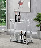 Convenience Concepts Town Square Bar Cart, Clear