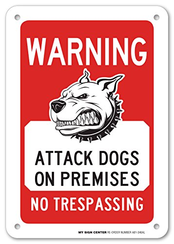 Warning Beware Premises Trespassing Sign