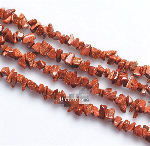 - Mimeier Synthetic Goldstone Nuggets Beads Strands, Gold Sandstone (008LS) (40cm)