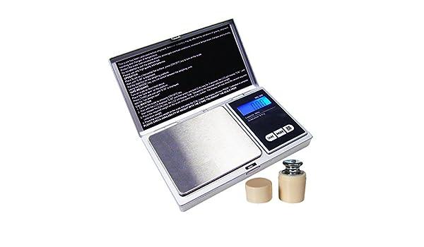 G & G MS de S 100 g/0,01 + Peso Calibración (gratis.) Funda Báscula Digital de bolsillo para monedas Báscula g & G: Amazon.es: Hogar