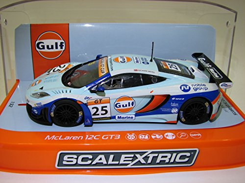 Scalextric 2014 No 25 1:32 Slot Car C3716 McLaren 12C GT3 - Macau GT Cup (Effects Xenon Ground)