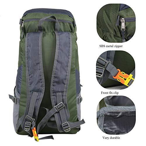 Luisport 35L Waterproof Foldable Hiking Backpacks for Women and Men Travel  Backpack for Girls and Boys 768450fad4