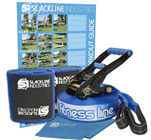 Slackline Industries 50 Foot Fitness Line Kit by Slackline Industries
