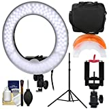 Smith-Victor 13.5'' LED Ring Light & Case with Smartphone Mounting Adapter & Ball Head + Light Stand + Kit