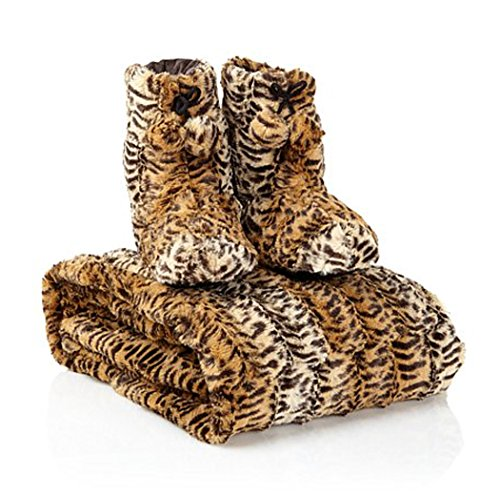 adrienne-landau-faux-fur-throw-and-booties-leopard-medium