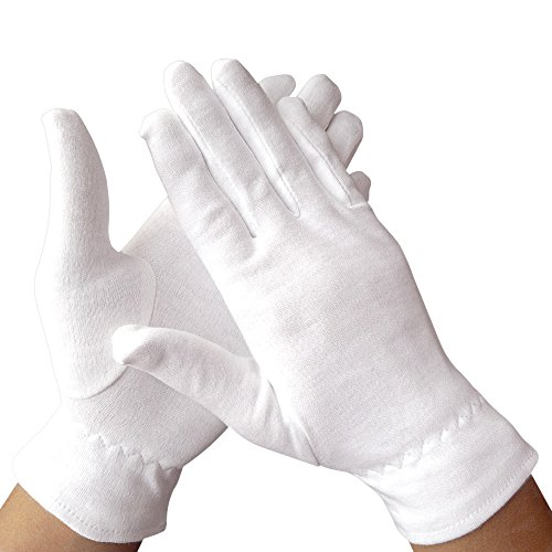 Dermrelief Cotton Gloves - for beauty, dry hands, Eczema, Dermatitis and Psoriasis (Medium, 3 Pairs) by Dermrelief