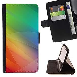 BullDog Case - FOR/Samsung Galaxy S5 Mini, SM-G800 / - / Color Tones Green Yellow /- Monedero de cuero de la PU Llevar cubierta de la caja con el ID Credit Card Slots Flip funda de cuer