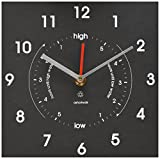 Bosmere W420 Eco Time and Tide Indoor/Outdoor Recycled Clock, Black
