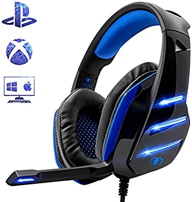 Beexcelente - Auriculares de Diadema para PS4, Auriculares para ...