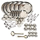 King International Stainless Steel Dinner Set of 50 Pieces with Branded Packing