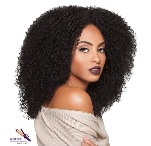 Outre Big Beautiful Hair Synthetic Lace Front Wig 3C-WHIRLY Color: 1B- Off -