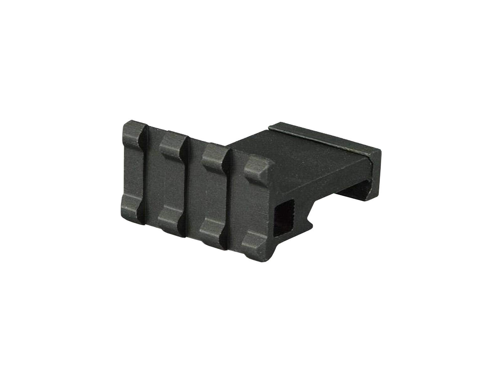 "Low Profile Tactical Picatinny/Weaver 90 Degree Angle Mount, 1.37"" Long with 3 Slots"