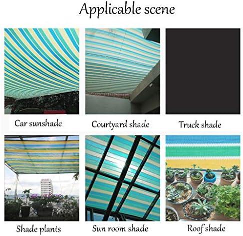 シェードネット 色の縞90%の陰の布、庭カバー花植物のテラスの芝生のためのグロメットが付いている反紫外線メッシュの日焼け止めの生地 (Size : 2x6m)